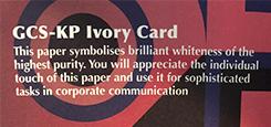 GCS-KP IVORY CARD
